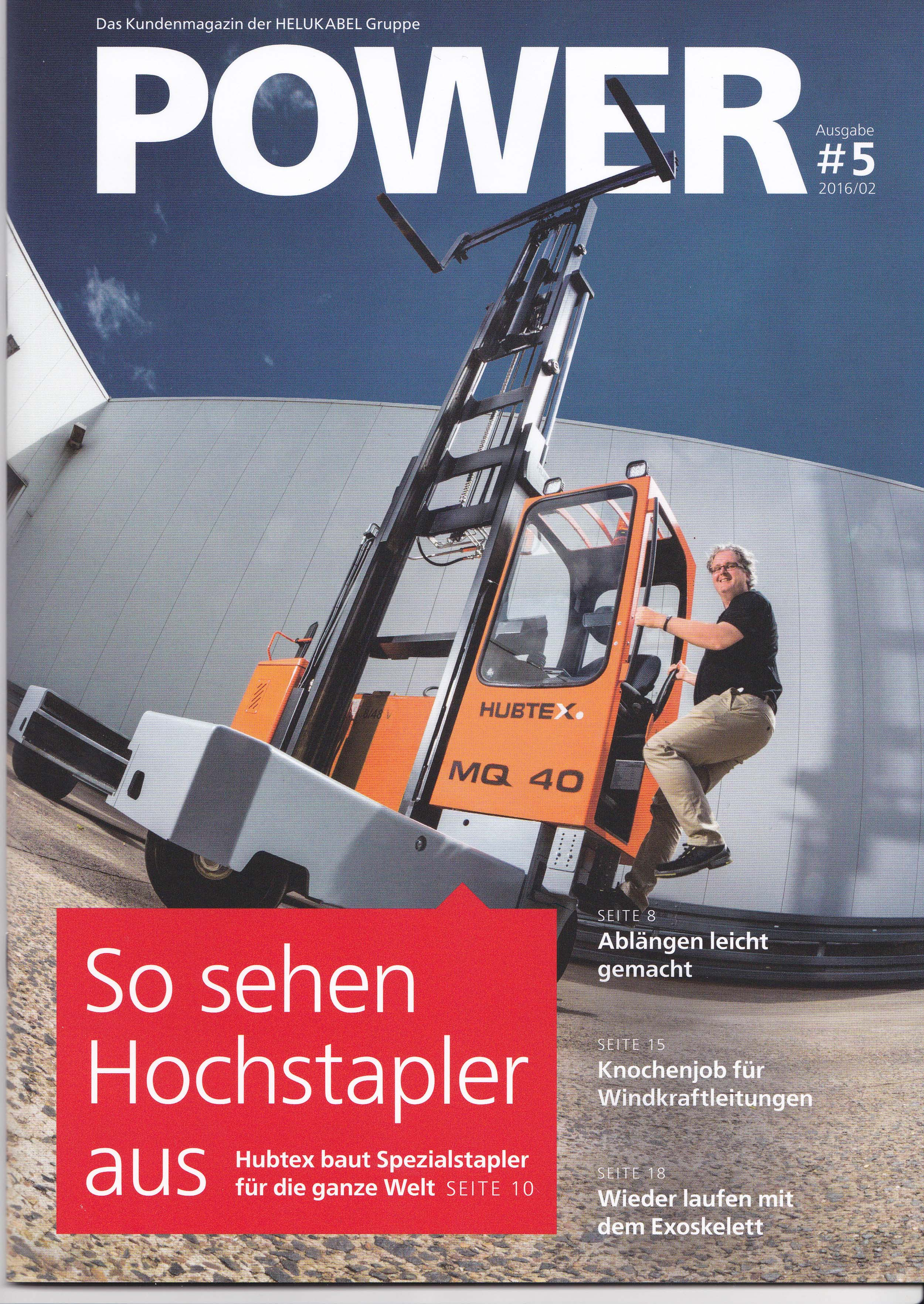 Helukabel Power Magazin CoverShooting Industrie Werbeshooting